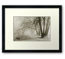 Winter Silence Framed Print