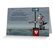 Silly Illustrated Sea Monkey Poem Greeting Card