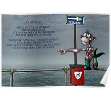 Silly Illustrated Sea Monkey Poem Poster