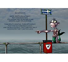 Silly Illustrated Sea Monkey Poem Photographic Print