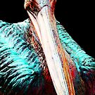 Rusty - Pelican Art Painting by Sharon Cummings