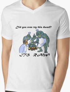 This Dwarf is Raw! Mens V-Neck T-Shirt