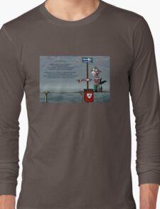 Silly Illustrated Sea Monkey Poem Long Sleeve T-Shirt