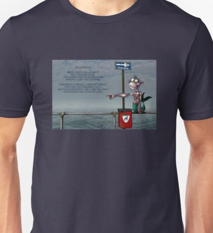 Silly Illustrated Sea Monkey Poem Unisex T-Shirt