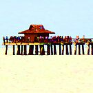 The Pier - Beach Pier Art by Sharon Cummings