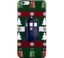 Ugly Christmas Police Box iPhone Case/Skin