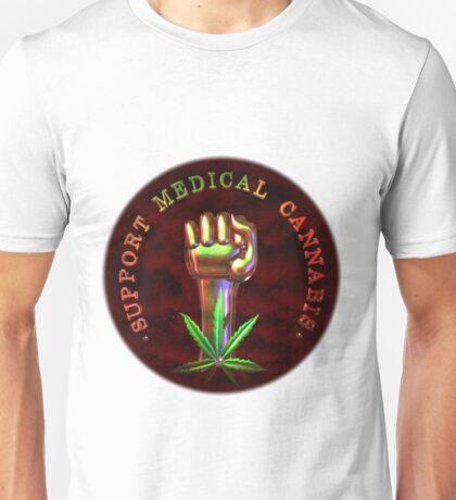 Support Medical Cannabis/Marijuana fist  Unisex T-Shirt