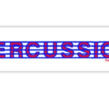 Percussion Red White & Blue II Sticker
