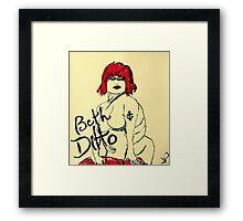 Beth Ditto The Gossip Fine Art Illustration Framed Print