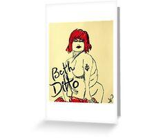 Beth Ditto The Gossip Fine Art Illustration Greeting Card