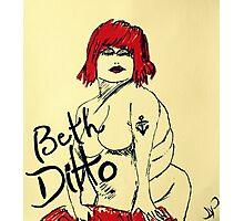Beth Ditto The Gossip Fine Art Illustration Photographic Print
