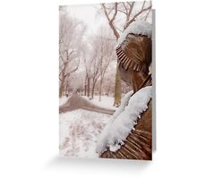 Abigail's snowbound view Greeting Card
