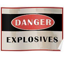 Team Fortress 2 - Danger Explosives  Poster
