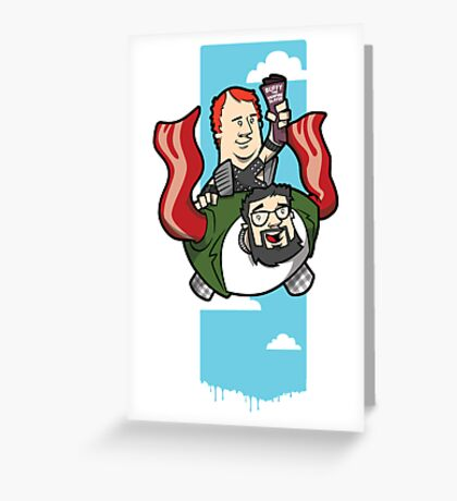 Smith And The Buffy Man On Wings of Swine Greeting Card