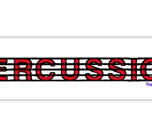 Percussion Red II Sticker