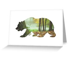 Forest nature bear abstract realism  Greeting Card