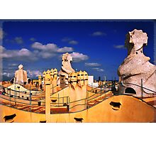 Roof of 'La Padrera' building Photographic Print