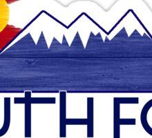 South Fork Colorado wood mountains Sticker