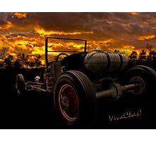 Ford Rat Rod T and a Sundown Destination Photographic Print