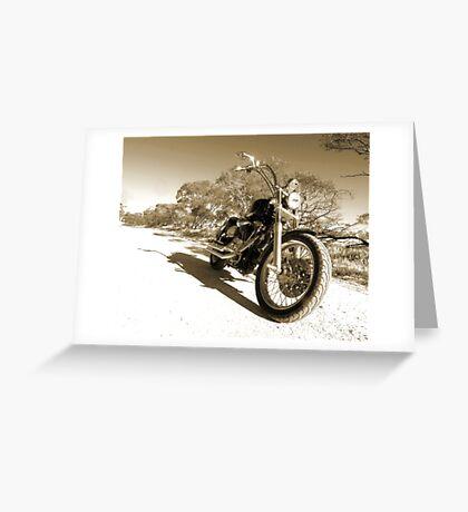 Harley Davidson Dyna Glide Greeting Card