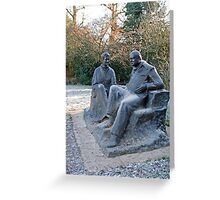 Sir Winston Churchill & his wife statue in Chartwell Greeting Card
