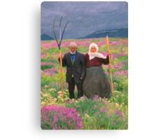 landscape heavenly kurdish family Canvas Print