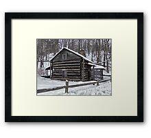 Old Log Cabin Framed Print