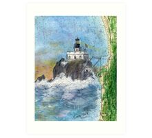 Tillamook Rock Lighthouse OR Nautical Map Cathy Peek Art Art Print