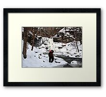 Photographing Sheldon Reynolds In Winter Conditions Framed Print
