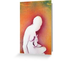 Sitting nude in sunlight Greeting Card
