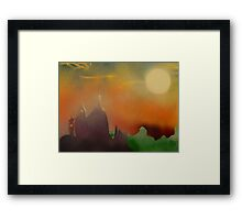 Cathedral in evening sun Framed Print