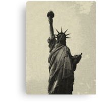 landscape  statue of liberty sketch Canvas Print