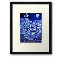 Emily and the ever present lone pine  Framed Print