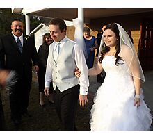 wedding day smile! Photographic Print