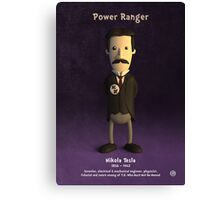 Nikola Tesla - Power Ranger Canvas Print