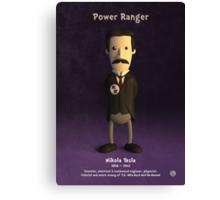 Nikola Tesla - Power Ranger Canvas Print