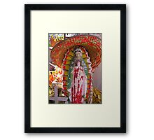 our lady of the sombrero Framed Print