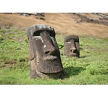 Rano Raraku Pair of Heads Photographic Print