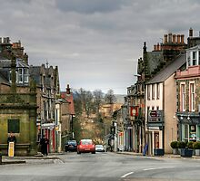 Looking Down High Street from Market Place, Selkirk by Christine Smith