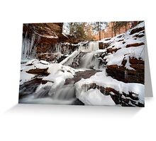 The Shawnee Waterfall Is Freezing Over Fast Greeting Card