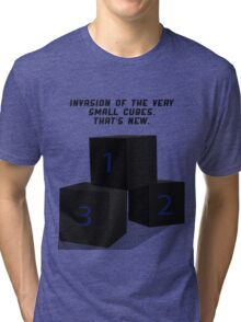 The Invasion of the Cubes Tri-blend T-Shirt