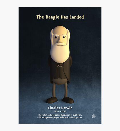 Charles Darwin - The Beagle Has Landed Photographic Print