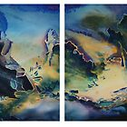 Watercolour diptych: Seawater by Marion Chapman