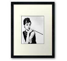 Audrey Hepburn Print Framed Print