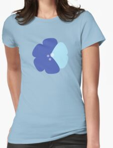 Flowers, Blossoms, Blooms, Petals - Blue Womens Fitted T-Shirt