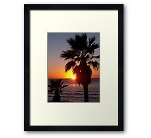 encinitas sunset Framed Print