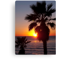encinitas sunset Canvas Print