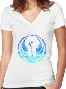 The Old Republic Emblem Women's Fitted V-Neck T-Shirt