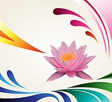 lotus abstractact by Adam Asar