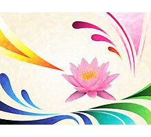 lotus abstractact art Photographic Print